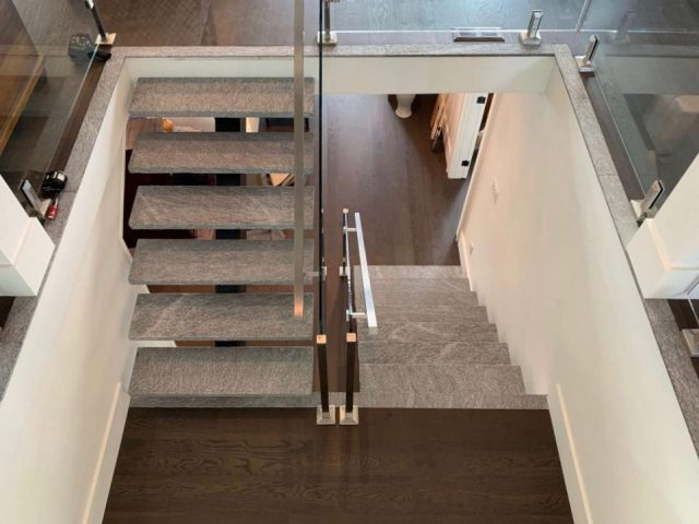 Granite stair treads