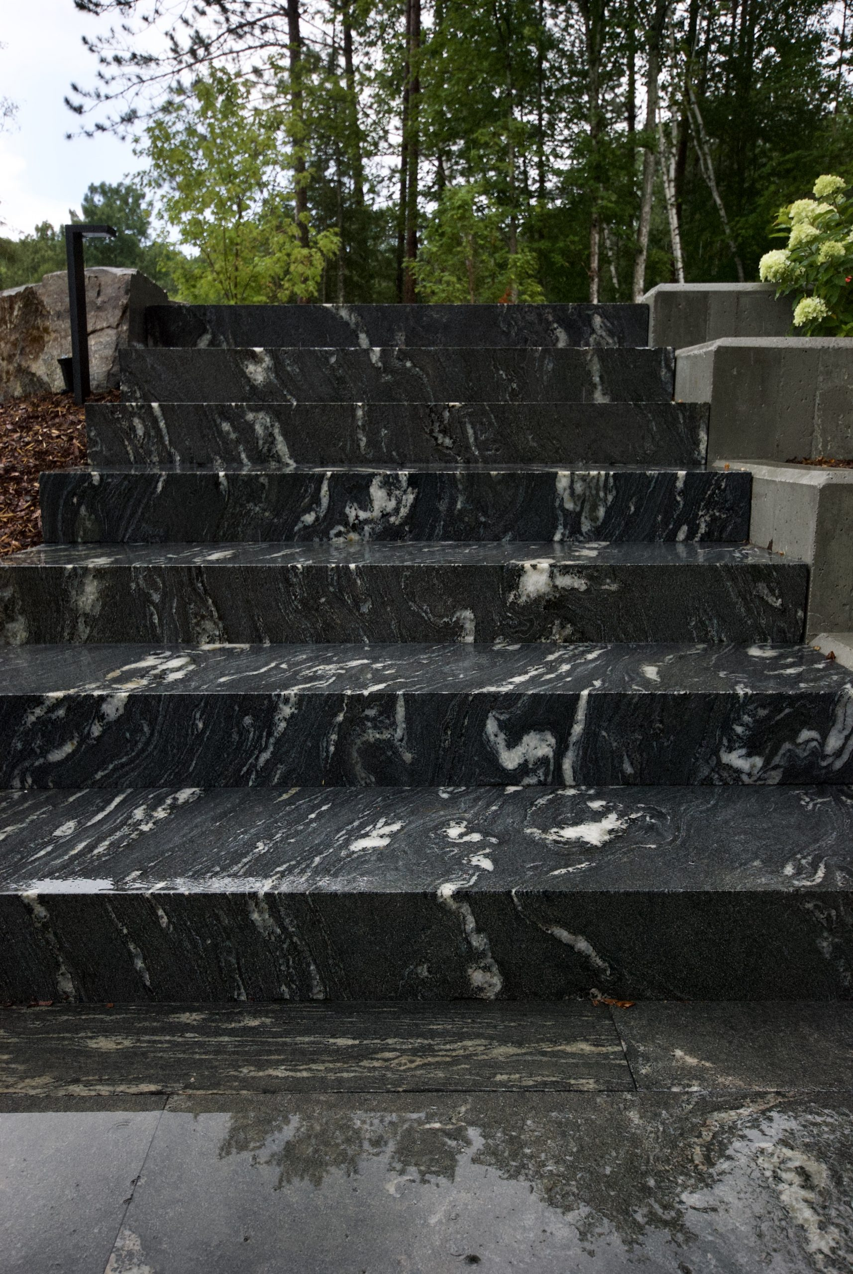 Granite staircase